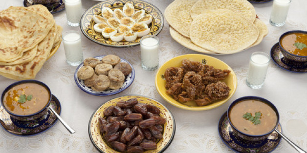 This is a traditional Moroccan meal for Eid ul-Fitr after the fast for Ramadan has been broken.
