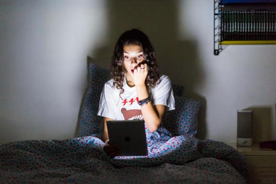 computer di notte
