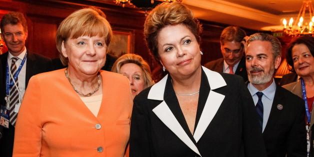 Angela Merkel bei ihrem Besuch in Brasilia