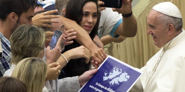 Dieses Foto von Papst Franziskus sorgt  für Aufsehen in Argentinien
