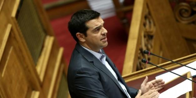 Le Premier ministre grec Alexis Tsipras à Athènes, le 14 août 2015