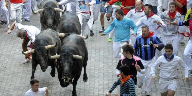 Le plus populaire des làches des taureaux, le SDLâcher San fermin de Pampelune, dans le nord de l'Espagne