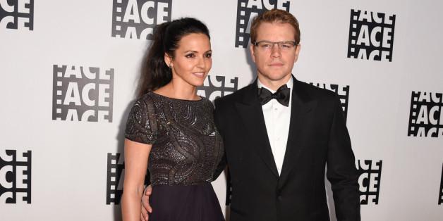 Matt Damon und seine Ehefrau Luciana Barroso feiern am 9. Dezember 2015 ihren zehnten Hochzeitstag