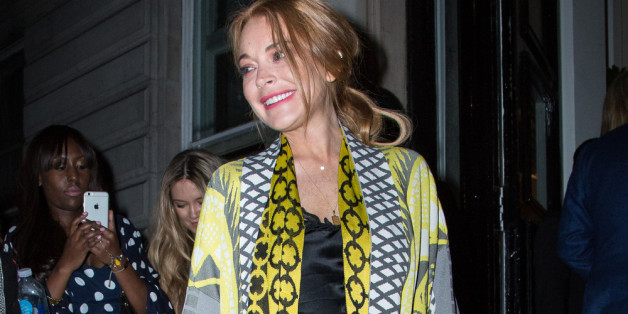 Lindsay Lohan auf einer Party in London