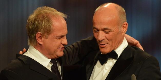 Enge Freunde: Uwe Ochsenknecht und Heiner Lauterbach beim Semperopernball 2013