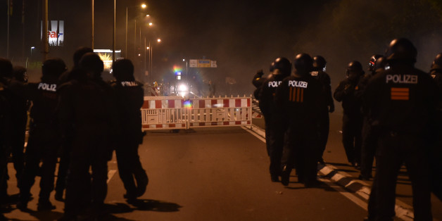 Polizisten in Heidenau