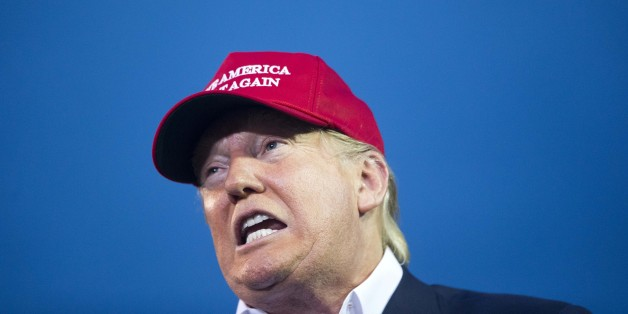 Republican presidential candidate Donald Trump speaks during a campaign rally in Mobile, Ala., on Friday, Aug. 21, 2015. (AP Photo/Brynn Anderson)