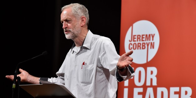 British Labour party leadership contender Jeremy Corbyn addresses a speech in west London, on August 17, 2015. Voting began Friday August 14, 2015, to elect the new leader of Britain's main opposition Labour party, with Jeremy Corbyn, a veteran socialist who would move the party significantly to the left, favourite to win. AFP PHOTO / BEN STANSALL        (Photo credit should read BEN STANSALL/AFP/Getty Images)