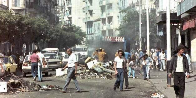 Les émeutes d'Octobre 1988 sont venues dans le sillage d'une chute brutale des recettes pétrolières (archives)
