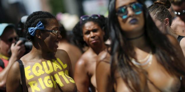 PHOTOS. Une manifestation seins nus partout dans le monde pour l'égalité