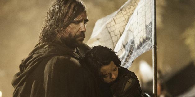 The Hound (McCann) - in der deutschen Version der Bluthund - mit Arya Stark (Williams) zu Pferde
