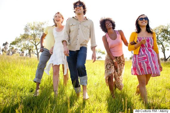 friends field walking