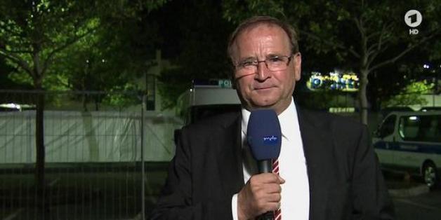 Heidenaus Bürgermeister Jürgen Opitz im Interview mit dem ARD-Nachtmagazin