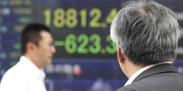 Die Kurse an den asiatischen Börsen fielen am Morgen