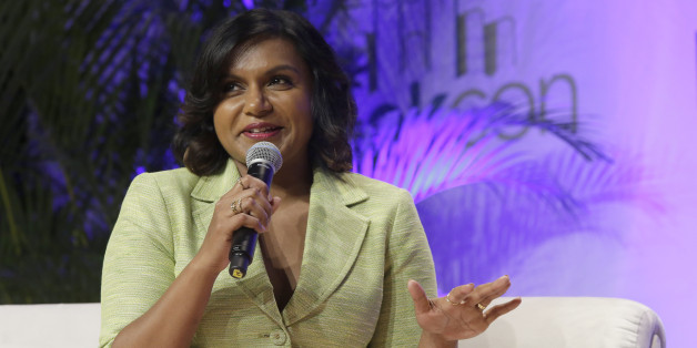 Actress Mindy Kaling speaks during a panel discussion at BookCon, Saturday, May 30, 2015, at the Jacob K. Javits convention center in New York. (AP Photo/Mary Altaffer)