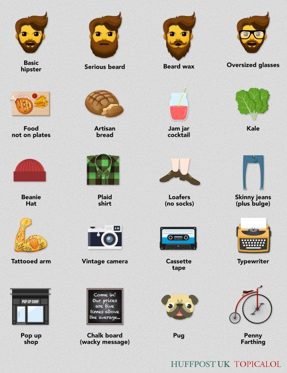hipster emojis