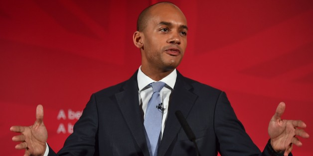 (FILES) In this April 9, 2015 file photo, British Shadow Business Secretary Chuka Umunna speaks during the launch of the Labour Party Education Manifesto for the general election in central London. Rising political star Chuka Umunna announced May 12, 2015 he will run for leadership of Britain's Labour Party as it seeks to rebuild following last week's devastating election defeat.    AFP PHOTO / BEN STANSALL        (Photo credit should read BEN STANSALL/AFP/Getty Images)