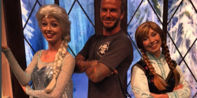 "Super-Daddy David Beckham ist ""Frozen"""