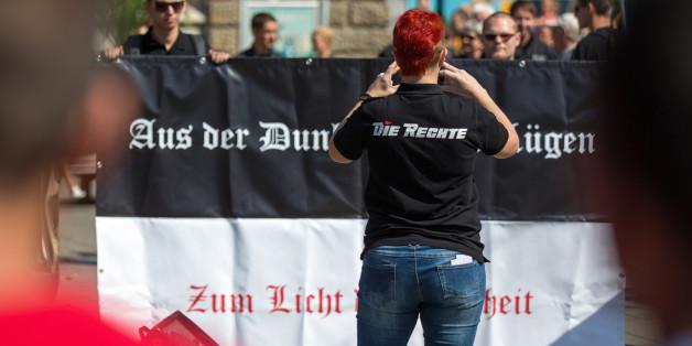 Aufmarsch der Partei Die Rechte (Archivbild)