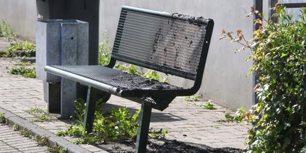 Brandspuren zeugen von der Gewalttat
