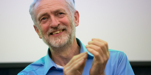 SOUTHAMPTON, ENGLAND - AUGUST 25:  Labour Leadership Candidate Jeremy Corbyn applauds as he speaks at a rally for supporters at the Hilton at the Ageas Bowl on August 25, 2015 in Southampton, England. Jeremy Corbyn remains the bookiesÕ favourite to win the Labour leadership contest which will be announced on September 12 after the ballots close on September 10  (Photo by Matt Cardy/Getty Images)