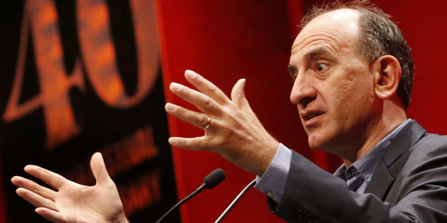 Embargoed to 1915 Wednesday August 26Writer and director Armando Iannucci rehearses ahead of delivering the James MacTaggart Memorial Lecture at the 40th Guardian Edinburgh International Television Festival.
