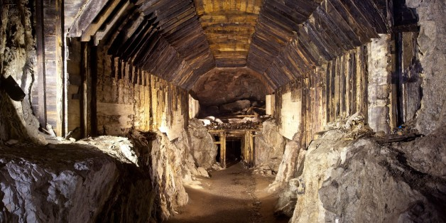 Part of a subterranean system built by Nazi Germany in what is today Gluszyca-Osowka, Poland. According to Polish lore, a Nazi train loaded with gold, and weapons vanished into a mountain at the end of World War II, as the Germans fled the Soviet advance