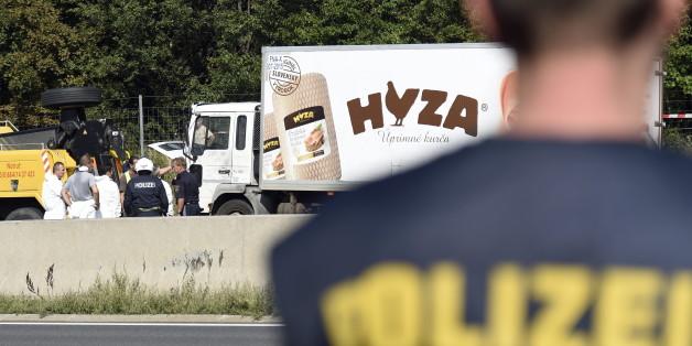 In dem Lkw kamen 71 Menschen ums Leben