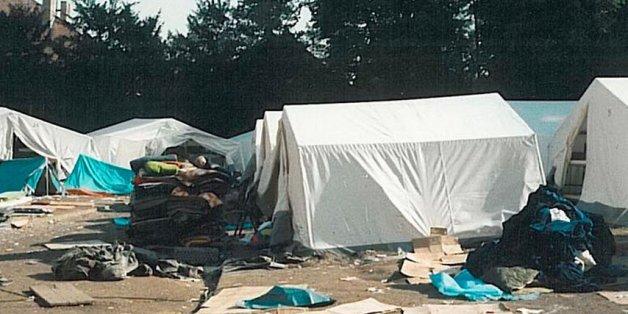 So sieht es aus, wenn Flüchtlinge ein Camp verlassen