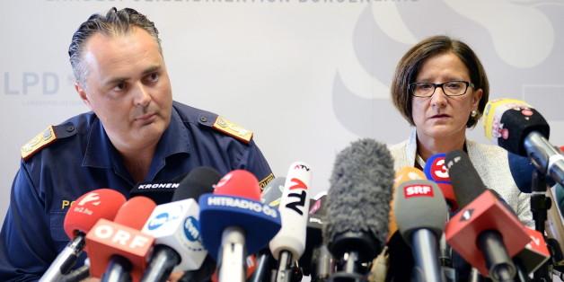 Der Burgenländer Polizeidirektor Hans-Peter Doskozil und die österreichische Innenministerin Johanna Mikl-Leitner