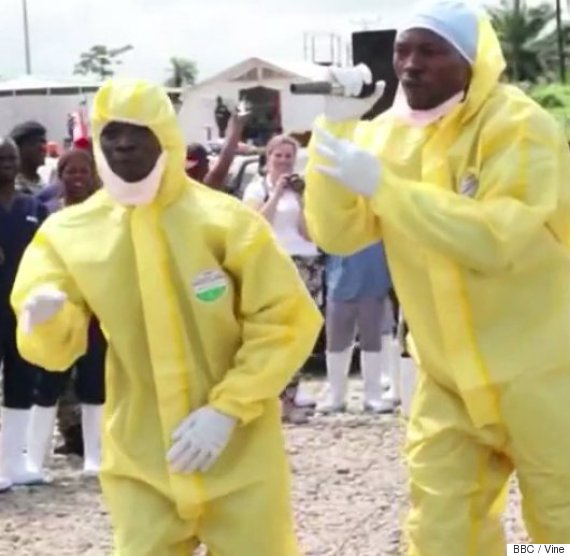 yellow hazmat suit