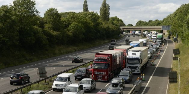 Tailbacks on the M6 in Staffordshire after a lorry fire closed the motorway for repairs due to the ferocity of the blaze melting the tarmac.