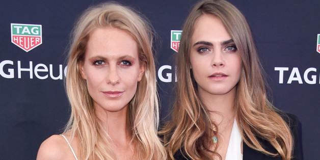 Poppy Delivigne mit ihrer Schwester Cara