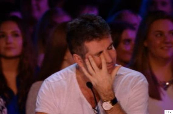 simon cowell crying x factor