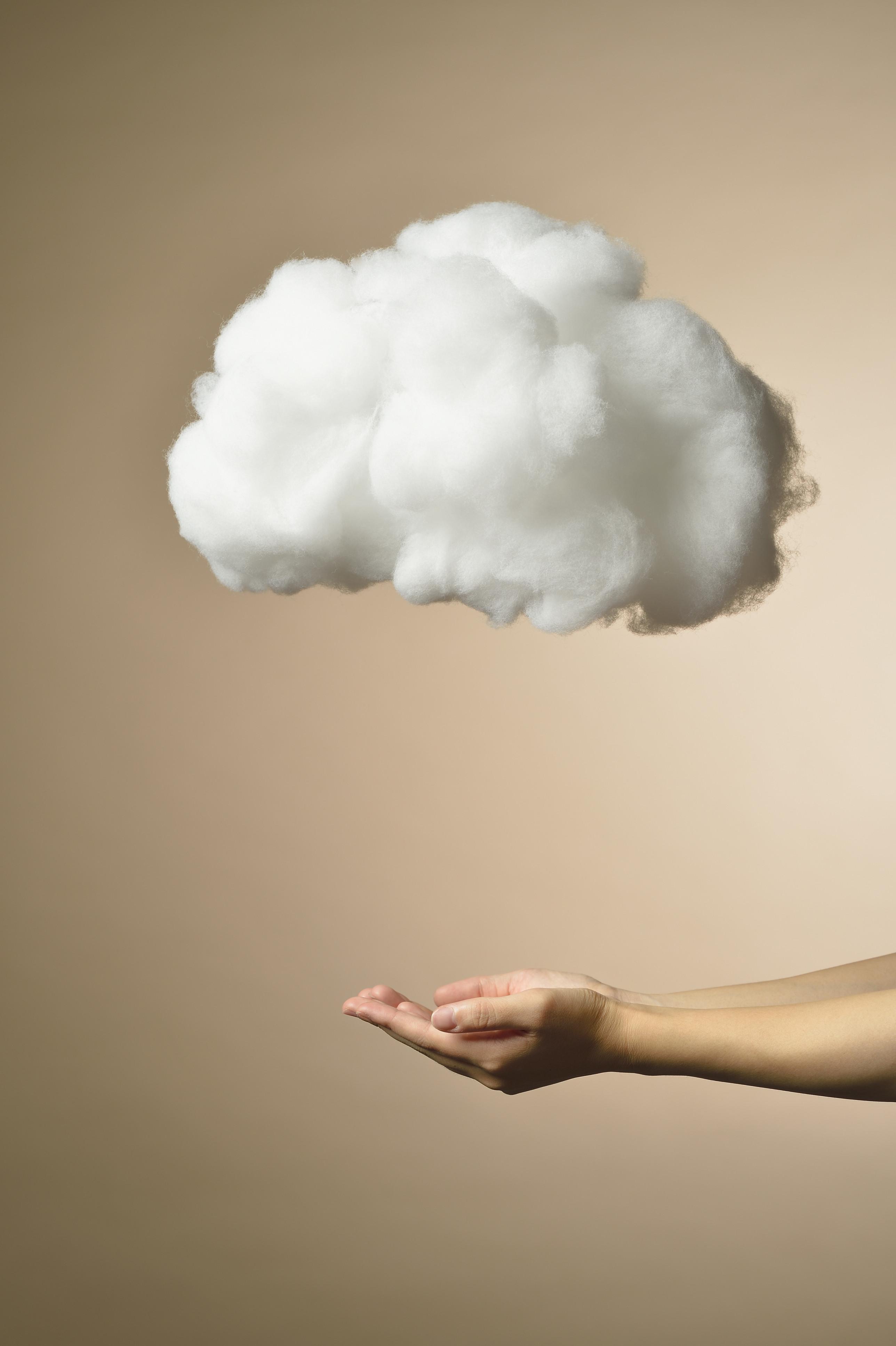 woman cloud