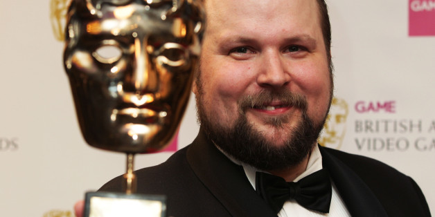 Swedish programmer and creator of Minecraft Markus Persson with his Special Award at the GAME British Academy Video Games Awards at The London Hilton, London.