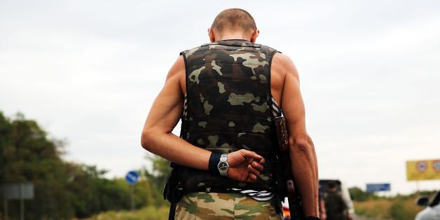 Ein Kämpfer der Separatisten in Donezk im September 2014