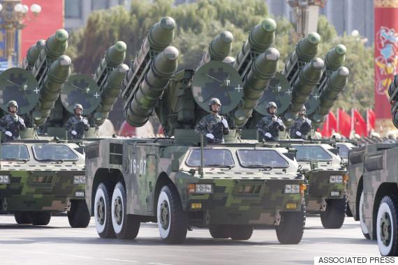 china military parade missiles