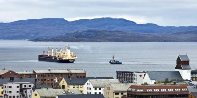 Le ville de Kirkenes, en Norvège, au bord de la mer des Barents, le 4 septembre 2010