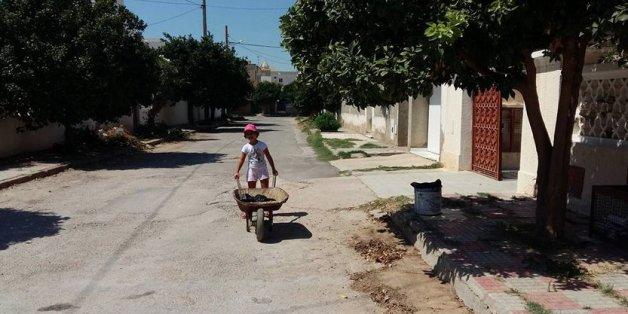 à Nabeul, les enfants ont aussi nettoyé les rues !
