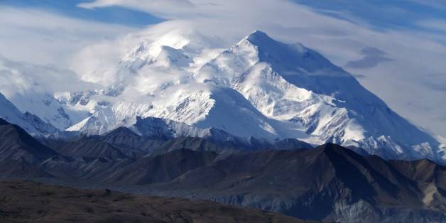 FILE - This Aug. 27, 2014 file photo shows Mount McKinley in Denali National Park and Preserve, Alaska. President Barack Obama on Sunday, Aug. 30, 2015 said he's changing the name of the tallest mountain in North America from Mount McKinley to Denali. (AP Photo/Becky Bohrer, File)