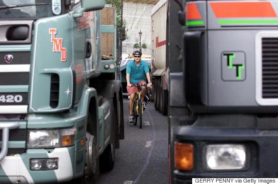 cyclists london hgv