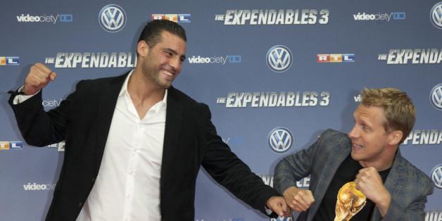 Manuel Charr mit Oliver Pocher