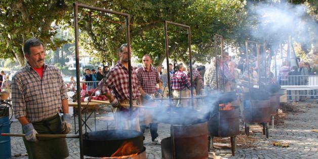 Marroniröster beim Festo della castagne in Ascona