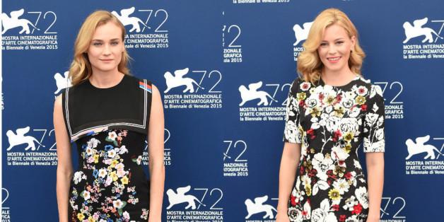 Diane Kruger (li.) und Elisabeth Banks setzten auf den Blümchen-Look