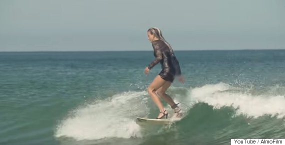badass surfer