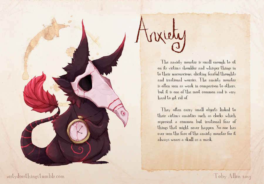 If Mental Illnesses Were Monsters, Here's What They'd Look Like