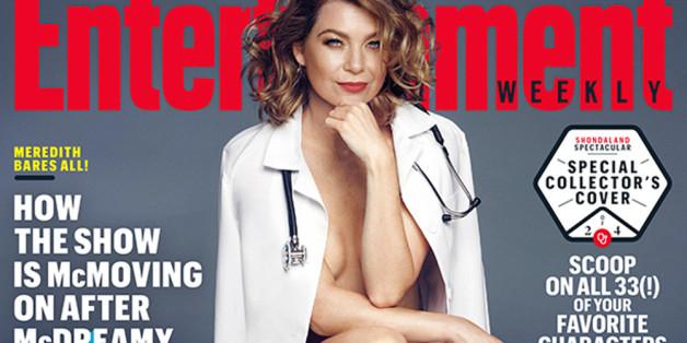 Ellen Pompeo (fast) nackt auf Magazin-Cover