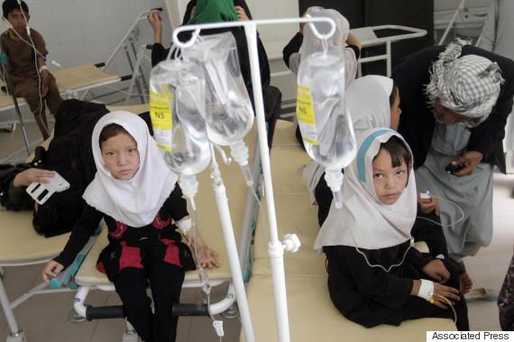afghanistan hospital school girl