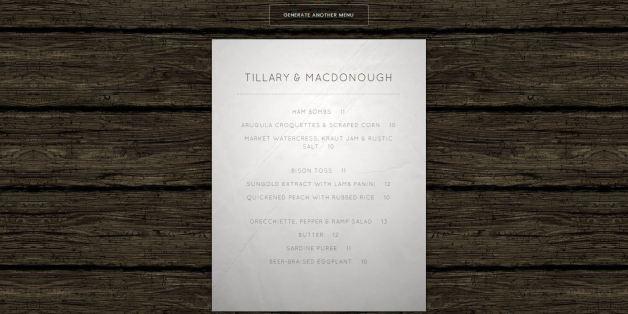 the brooklyn bar menu generator will help you create your own